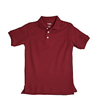 French Toast® Boys' 2T-20 Burgundy Short Sleeve Pique Polo