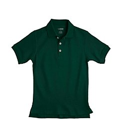 French Toast® Boys' 2T-20 Green Short Sleeve Pique Polo