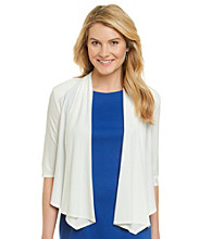 R&M Richards® Drape Front Shrug