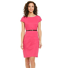 AGB® Belted Sheath Dress