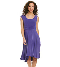 R&M Richards® High-Low Pleat Dress