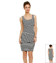 R&M Richards® Asymmetric Stripe Dress