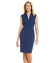 Evan-Picone® Collection V-neck Dress