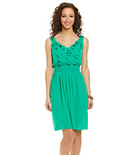AGB® Ruffle Front Dress