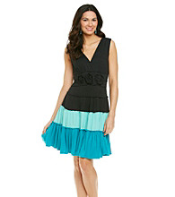 Sangria™ Color Block Tiered Knit Dress