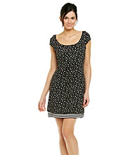Sangria® Dot Stripe Reversible Knit Dress