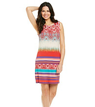 Sangria™ Print Knit Dress