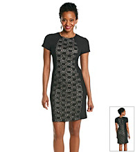 R&M Richards® Lace Panel Knit Dress
