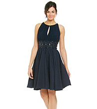 Jessica Howard® Keyhole Beaded Waist Dress