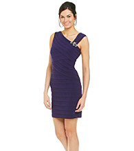 Jessica Howard® Jeweled Shoulder Shutter Dress
