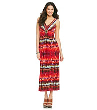 R&M Richards® Petites' Print Maxi Dress