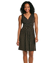 Jessica Howard® Petites' Surplice Dot Print Dress