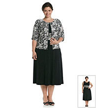 Jessica Howard® Plus Size Sequin Print Jacket and Dress