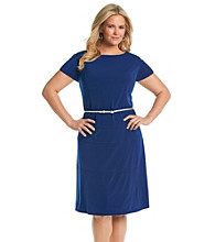 Jessica Howard® Plus Size Belted Dress