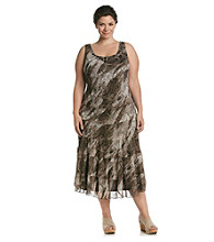 Jessica Howard® Plus Size Chiffon Printed Maxi Dress