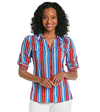 Jones New York Signature® Petites' Shirt With Patch Pockets