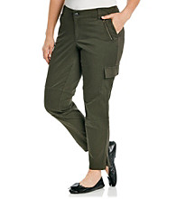 DKNY JEANS® Plus Size Skinny Cargo Crop With Zipper Ankles