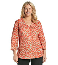 Jones New York Signature® Plus Size Printed Slim Tunic