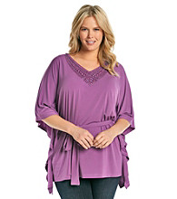 Jones New York Signature® Plus Size Embellished V-Neck Belted Tunic
