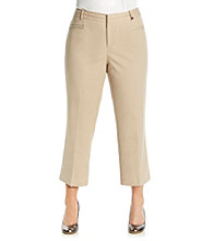Calvin Klein Plus Size Cropped Solid Color Pant