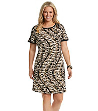 Calvin Klein Plus Size Printed T-Shirt Dress