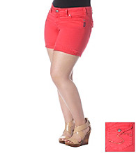 Silver Jeans Co. Plus Size Suki Colored Flap Back Pocket Shorts