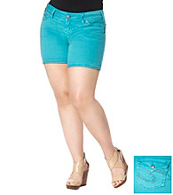 Silver Jeans Co. Plus Size Suki Colored Flap Back Pocket Short