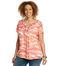 Ruby Rd.® Plus Size Tie-Dye Top