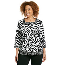 Alfred Dunner® Plus Size Animal Print Top