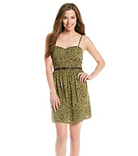 As U Wish® Juniors' Spaghetti Strap Printed Chally Sundress