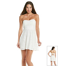 Trixxi® Juniors' White Crochet Bow Back Dress