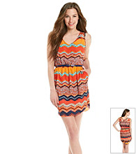 Trixxi® Juniors' Chevron Flip Flop Dress