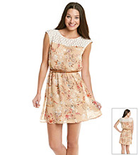 As U Wish® Juniors' Floral Print Dress