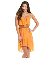 As U Wish® Juniors' High-Low Gauze Summer Dress