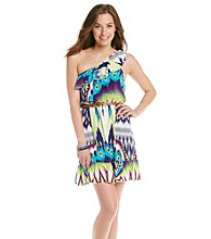 Trixxi® Juniors' One Shoulder Flip Flop Dress