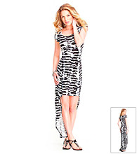 Guess Abstract Hi-Low Dress