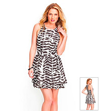Guess Abstract Tiered Skirt Dress