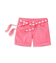 Celebrity Pink Girls' 7-16 Roll Cuff Shorts with Belt