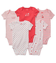Carter's® Baby Girls' Pink 5-pk. Short Sleeve Bodysuits
