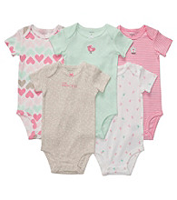 Carter's® Baby Girls' Pink/Mint 5-pk. Short Sleeve Bodysuits