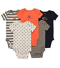 Carter's® Baby Boys' Grey/Orange/Navy 5-pk. Short Sleeve Bodysuits