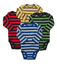 Carter's® Baby Boys' Bold Striped 4-pk. Long Sleeve Bodysuits