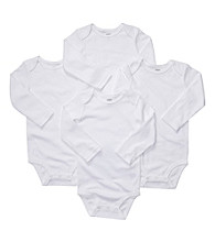 Carter's® Baby White 4-pk. Long Sleeve Bodysuits