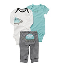 Carter's® Baby Boys' Grey/Blue 3-pc. Turtle Pull-On Pants Set