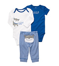 Carter's® Baby Boys' Blue 3-pc. Bulldog Pull-On Pants Set