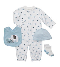 Carter's® Baby Boys' Blue/White 4-pc. Coverall Set