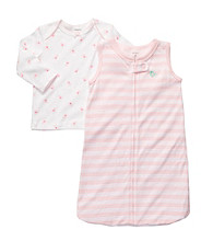 Carter's® Baby Girls' Pink/White 2-pc. Sleepbag Set