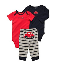 Carter's® Baby Boys' Red/Navy 3-pc. Car Pull-On Pants Set