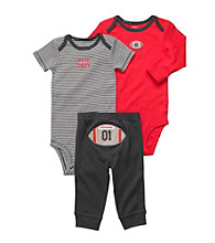 Carter's® Baby Boys' Red/Grey 3-pc. Football Pull-On Pants Set
