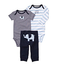 Carter's® Baby Boys' Blue 3-pc. Elephant Pull-On Pants Set
